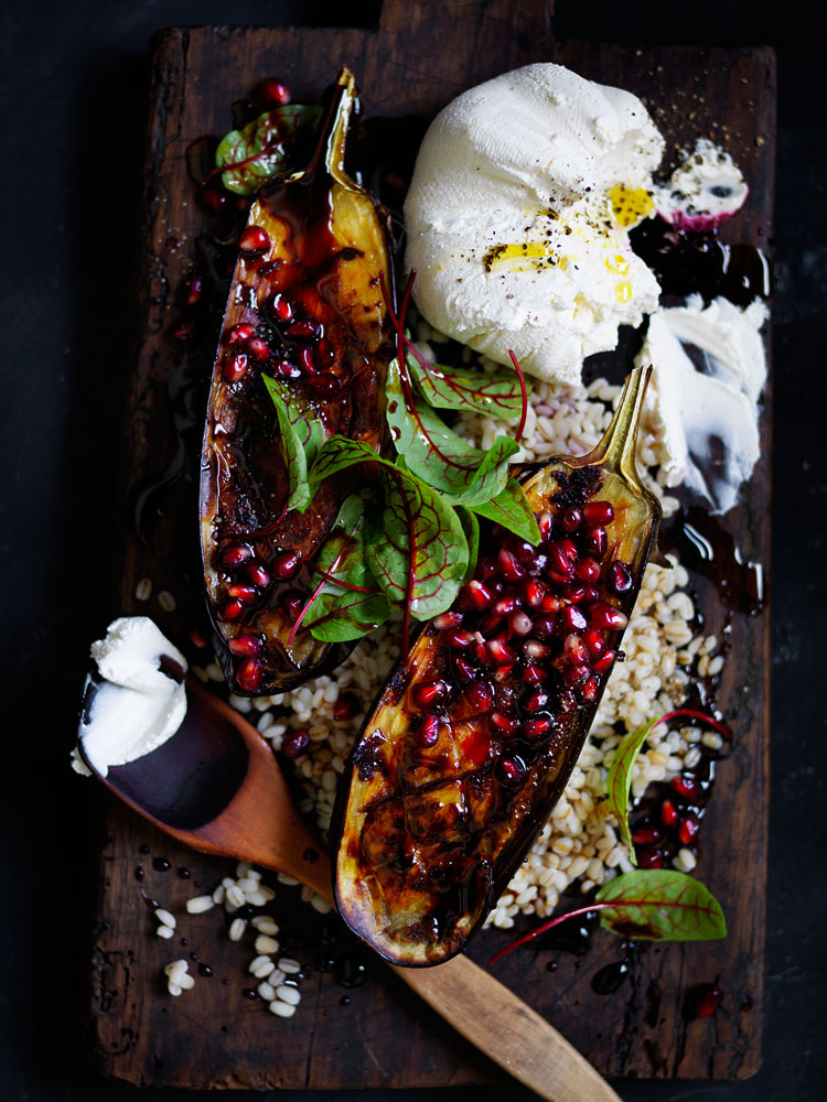 20150122Roasted-eggplant-and-pearl-barley-salad