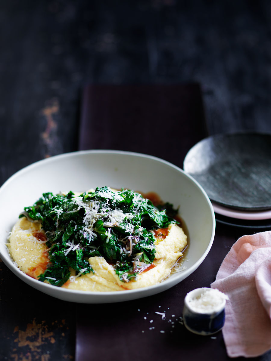 20150505Soft-Polenta-braised-Kale